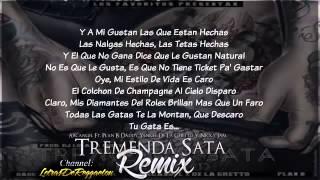 Tremenda Sata Remix Letra Arcangel Ft  De La Ghetto, Plan B, Daddy Yankee & Nicky Jam Original