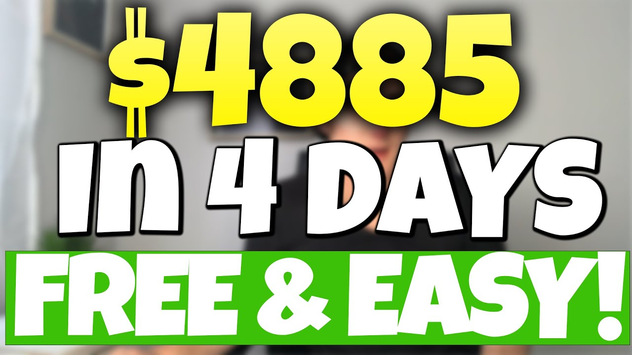 (Free) $4,885 In 4 Days   Easiest Way To Make Money Online (2021) thumbnail