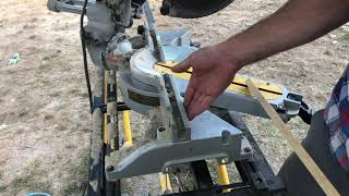 How to cut Quarter round on the chop saw