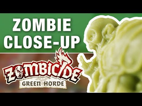 Green Horde Orc Zombie Miniatures Close Up