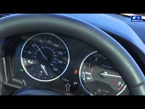 2014 BMW M235i 0-100 km/h Beschleunigung Tachovideo 0-60 mph acceleration with launch control