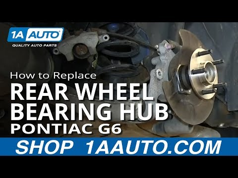 How to Replace Rear Wheel Bearing Hub 05-07 Pontiac G6