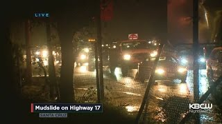 Mudslide Again Forces Traffic To Crawl On Highway 17
