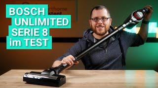 Bosch Unlimited Serie 8 im Test - Der beste Akku-Staubsauger für Teppich