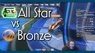 Bronze Player vs All-Star BOT | Hilarious Rocket League 1v1