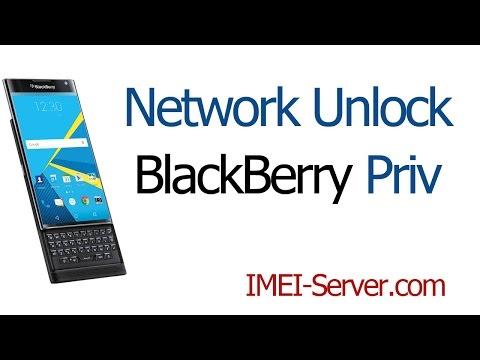 Unlock-Instruction for BlackBerry Priv from mobile carrier