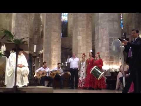 La Salve rociera en Basílica Santa Maria Barcelona