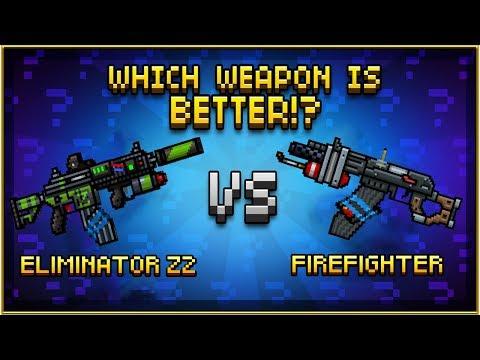 ELIMINATOR Z2 VS FIREFIGHTER - Pixel Gun 3D
