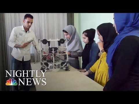 Afghan Girls Robotics Team Arrives In U.S. Intervention From Pres. Donald Trump   NBC Nightly News