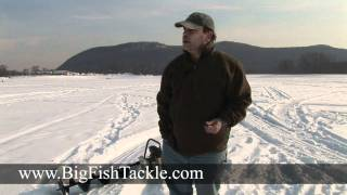 Ice fishing with dead bait