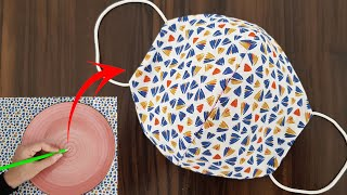 Make Fabric Face Mask at Home / DIY Face Mask With Sewing Machine / Easy Face Mask Pattern