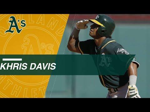 Khris Davis' home runs from 2016 and 2017