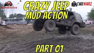 CRAZY JEEP MUDDING ACTION BEST OF PART 01