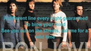 Bon Jovi - Runaway with Lyrics