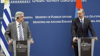 Remarks of Acting Foreign Minister Armen Grigoryan during the joint press statement with Foreign Minister of Uruguay Francisco Bustillo