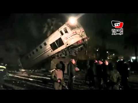 آثار حادث انقلاب قطار بني سويف وشهادات ركابه