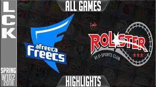 AFS vs KT Highlights ALL GAMES   LCK Spring 2018 S8 W1D2   Afreeca Freecs vs KT Rolster