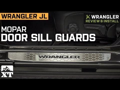 Jeep Wrangler JL Mopar Stainless Steel Door Sill Guards (2018 4 Door) Review  U0026 Install