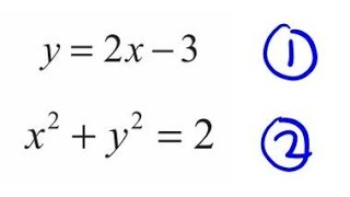 2 equations in 2 unknowns: Edexcel IGCSE June 2011: Question 22