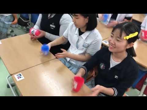 하양여중 2학년 3반 학생들의 휠라를 위한 특별 공연