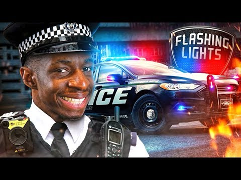 THE LONG ARM OF THE LAW!!! TBJZLPlays FLASHING LIGHTS