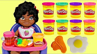 High Chair MOANA with Play-doh Noodle Makin' Mania Spaghetti Kitchen Creation Playset
