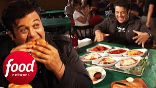 Adam Takes On 6 Main Dishes, 3 Sides and An Italian Dessert In Niagara Falls   Man v Food