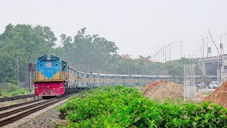 Upakul Express Train hauled by Hyundai made EMD Loco || Noakhali to Dhaka || Bangladesh Railway