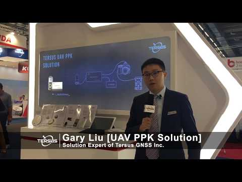 Solution Expert Gary Liu from Tersus GNSS Presenting UAV PPK Solution at InterGEO 2018.