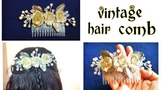 Diy Hair Accessories/Vintage Hair Comb/How To Make A Beaded Hair Comb/ Beaded Hair Clip