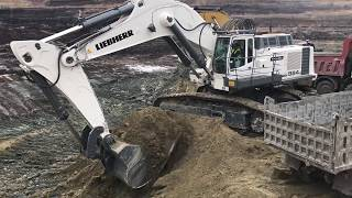 Huge Liebherr 984 Excavator Loading Trucs With Two Passes By Sotiriadis Brothers