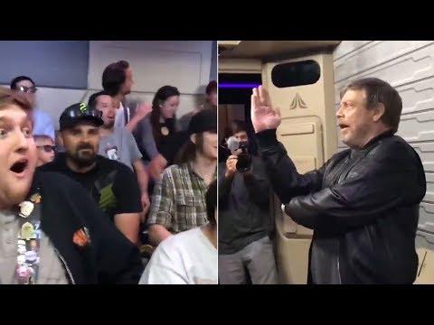 Mark Hamill surprises fans on 'Star Wars' ride at Disneyland