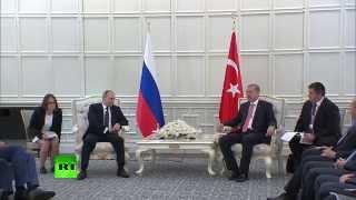 Путин и Эрдоган провели переговоры в Баку