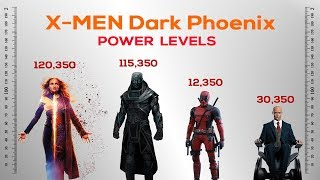 X men Dark Phoenix Power Levels