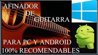 DESCARGAR AFINADOR DE GUITARRA ACÚSTICA PARA PC Y ANDROID
