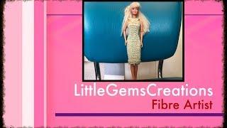 Knit Barbie Dress Handmade