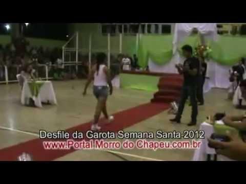 Desfile Garota Semana Santa Esportiva e Cultural 2012 Morro do Chapéu do Piauí
