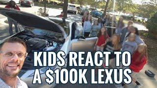 Kids React To A $100,000.00 Lexus!  2018 Lexus LC 500