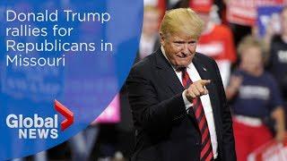 Donald Trump holds rally in Springfield, Missouri