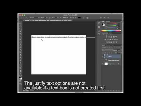 Photoshop Tip: Justifying Text | Photography Bay
