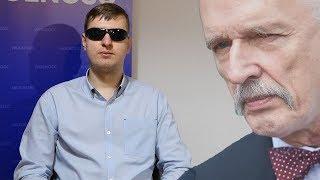 Niewidomy działacz partii Korwina: zasiłki uczą lenistwa - wolę zarobić, niż dostać!