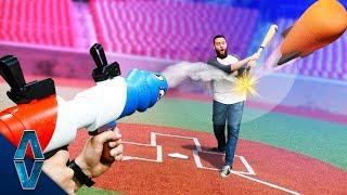 NERF Rocket Baseball Challenge!