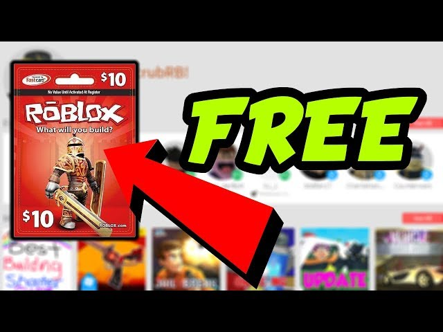 How To Get Free Roblox Gift Cards 2018
