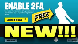 Fortnite: How To Enable 2FA - Two Factor Authentication -  (Easy Way) 2020 - Free Emote!!!