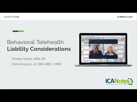 , title : 'Telehealth Liability Concerns in Behavioral Health