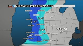 Cold temps and snow on the way to West Michigan