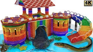 DIY - How To Build Castle Catfish Eel House From Magnetic Balls ( Satisfying ) | Manget Satisfying