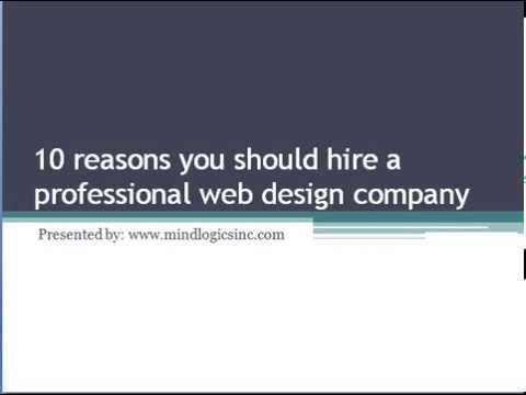 10 reasons you should hire a professional web design company