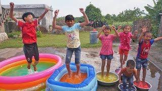 Trò Chơi Bể Bơi Màu Thần Kì ❤ Đồ Chơi Trẻ Em KN Channel ❤ Học Màu Với Bé Thảo Đen