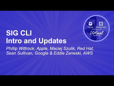 Image thumbnail for talk SIG CLI Intro and Updates